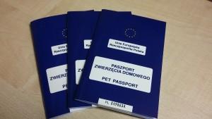 Paszporty dla psów, kotów i fretek